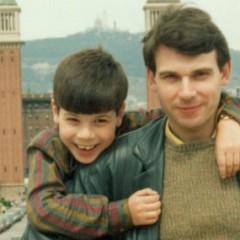 Pedro Valera con su hijo David