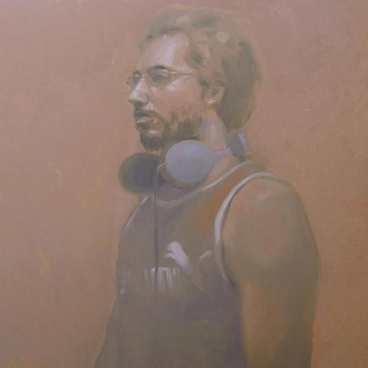 Retrato de Salah por Miguel Gómez Losada